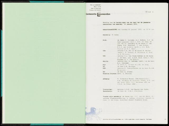 Raadsverslagen van de gemeente Leeuwarden, 1865-2007 (Notulen) 2001