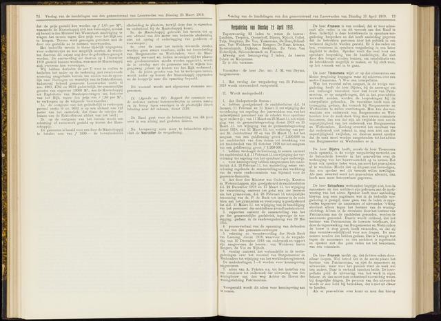 Raadsverslagen van de gemeente Leeuwarden, 1865-2007 (Notulen) 1919-04-15