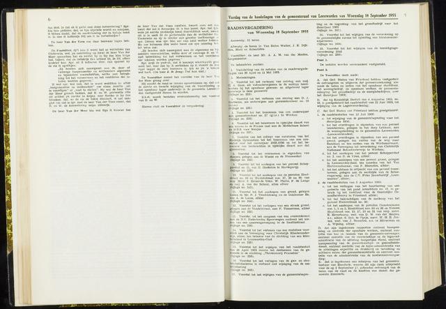 Raadsverslagen van de gemeente Leeuwarden, 1865-2007 (Notulen) 1955-09-14