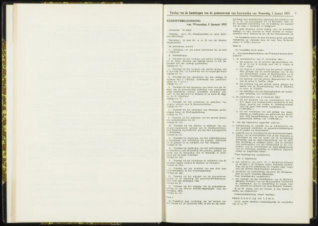 Raadsverslagen van de gemeente Leeuwarden, 1865-2007 (Notulen) 1955