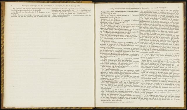 Raadsverslagen van de gemeente Leeuwarden, 1865-2007 (Notulen) 1881-01-27