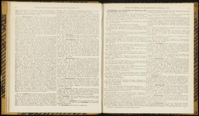 Raadsverslagen van de gemeente Leeuwarden, 1865-2007 (Notulen) 1871-02-23