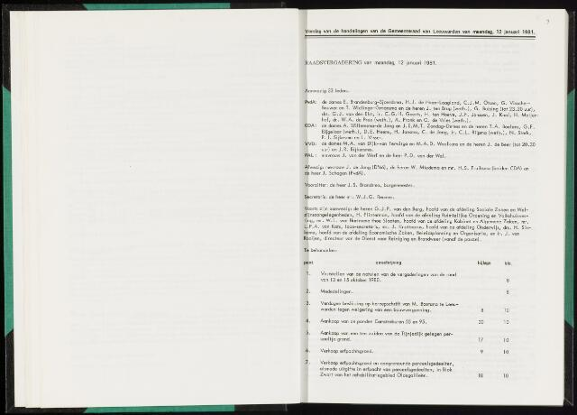 Raadsverslagen van de gemeente Leeuwarden, 1865-2007 (Notulen) 1981