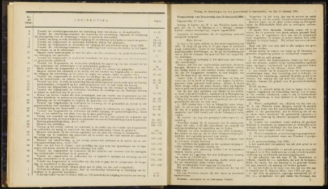 Raadsverslagen van de gemeente Leeuwarden, 1865-2007 (Notulen) 1884