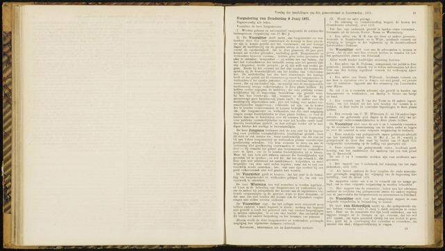Raadsverslagen van de gemeente Leeuwarden, 1865-2007 (Notulen) 1871-06-08