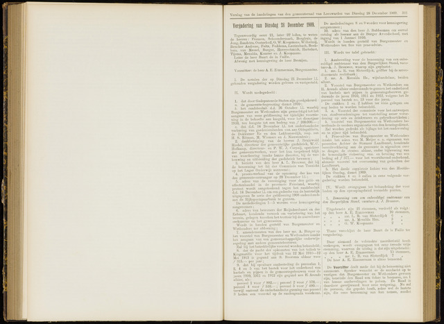 Raadsverslagen van de gemeente Leeuwarden, 1865-2007 (Notulen) 1909-12-28