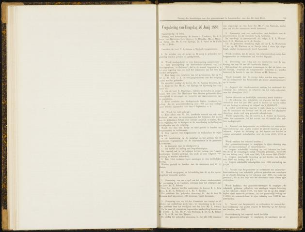 Raadsverslagen van de gemeente Leeuwarden, 1865-2007 (Notulen) 1888-06-26
