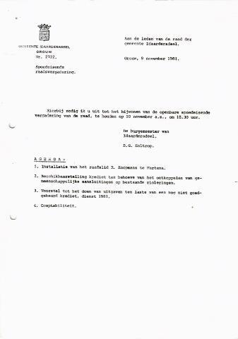 raadsverslagen Idaarderadeel 1935-1983 1981-11-10