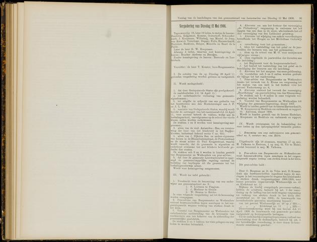 Raadsverslagen van de gemeente Leeuwarden, 1865-2007 (Notulen) 1908-05-12