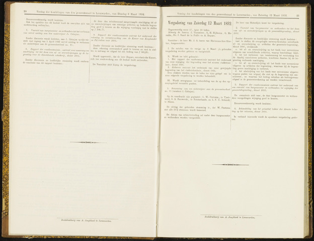 Raadsverslagen van de gemeente Leeuwarden, 1865-2007 (Notulen) 1892-03-12