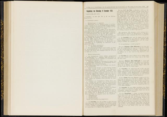 Raadsverslagen van de gemeente Leeuwarden, 1865-2007 (Notulen) 1928-12-19