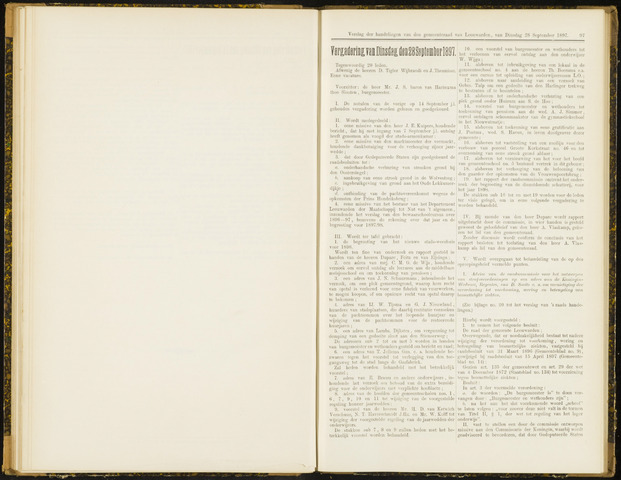 Raadsverslagen van de gemeente Leeuwarden, 1865-2007 (Notulen) 1897-09-28