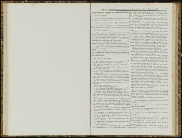 Raadsverslagen van de gemeente Leeuwarden, 1865-2007 (Notulen) 1886-09-28