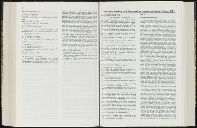 Raadsverslagen van de gemeente Leeuwarden, 1865-2007 (Notulen) 1972-12-18