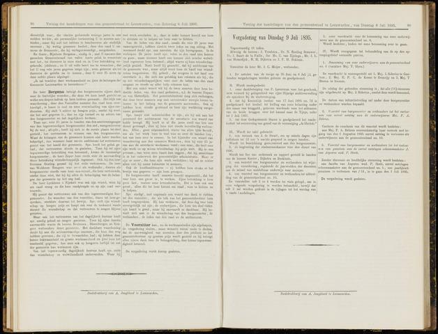Raadsverslagen van de gemeente Leeuwarden, 1865-2007 (Notulen) 1895-07-09