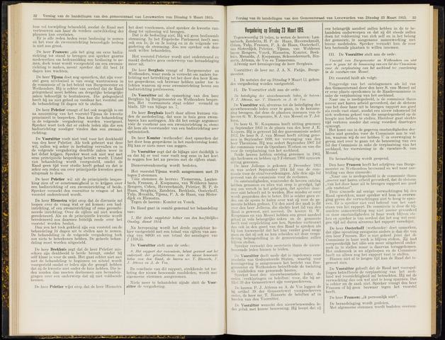 Raadsverslagen van de gemeente Leeuwarden, 1865-2007 (Notulen) 1915-03-23