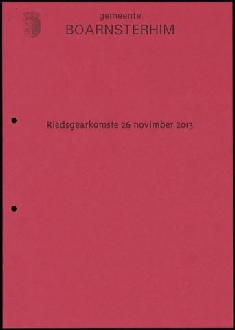 Boarnsterhim vergaderstukken gemeenteraad  2013-11-26