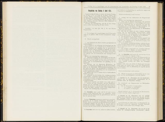 Raadsverslagen van de gemeente Leeuwarden, 1865-2007 (Notulen) 1924-04-08