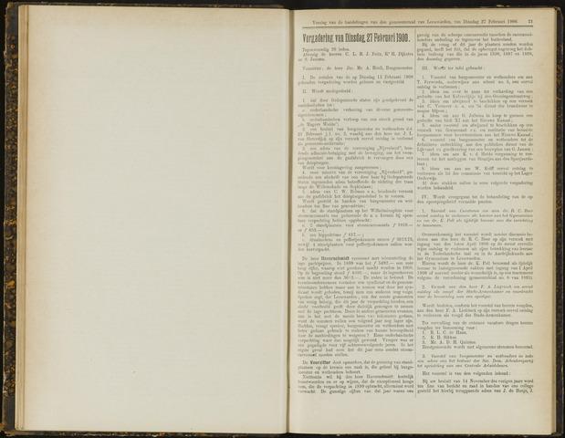 Raadsverslagen van de gemeente Leeuwarden, 1865-2007 (Notulen) 1900-02-27