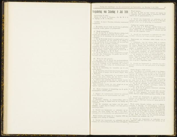 Raadsverslagen van de gemeente Leeuwarden, 1865-2007 (Notulen) 1898-07-09