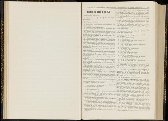 Raadsverslagen van de gemeente Leeuwarden, 1865-2007 (Notulen) 1928-06-05