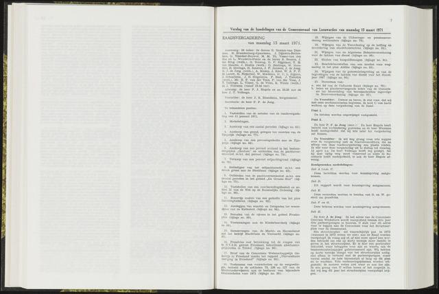Raadsverslagen van de gemeente Leeuwarden, 1865-2007 (Notulen) 1971-03-15