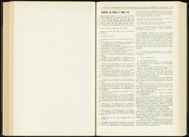 Raadsverslagen van de gemeente Leeuwarden, 1865-2007 (Notulen) 1933-10-24