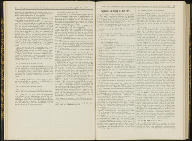 Raadsverslagen van de gemeente Leeuwarden, 1865-2007 (Notulen) 1923-03-13
