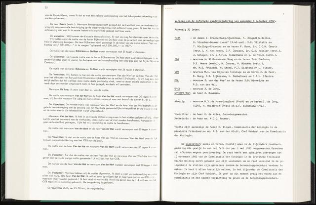 Raadsverslagen van de gemeente Leeuwarden, 1865-2007 (Notulen) 1982-12-08