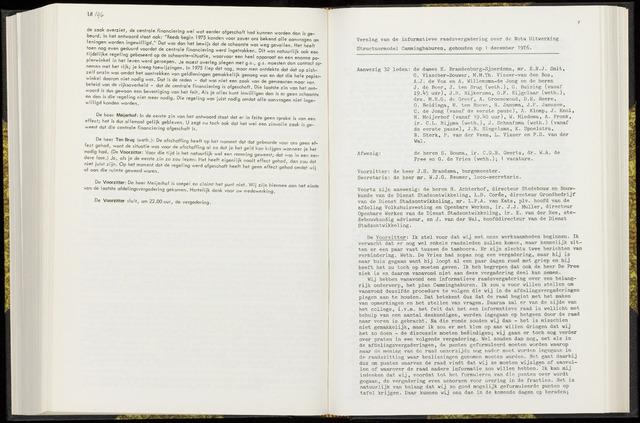 Raadsverslagen van de gemeente Leeuwarden, 1865-2007 (Notulen) 1976-12-01