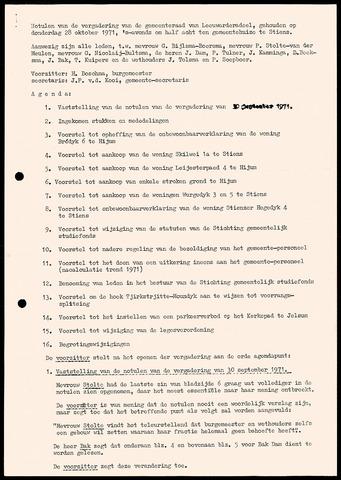 Notulen van de gemeenteraad van Leeuwarderadeel 1971-10-28