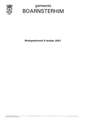 Boarnsterhim vergaderstukken gemeenteraad  2007-10-09