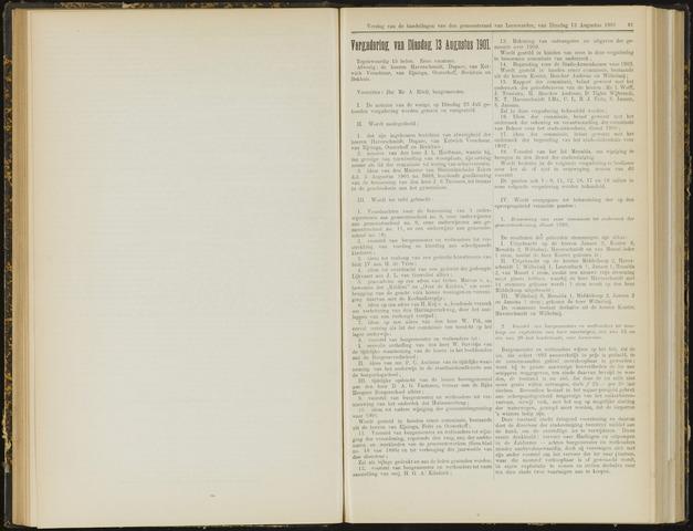 Raadsverslagen van de gemeente Leeuwarden, 1865-2007 (Notulen) 1901-08-13