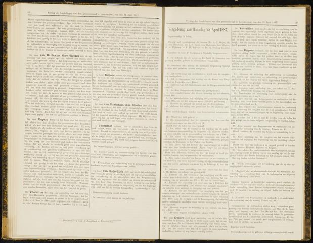 Raadsverslagen van de gemeente Leeuwarden, 1865-2007 (Notulen) 1887-04-25
