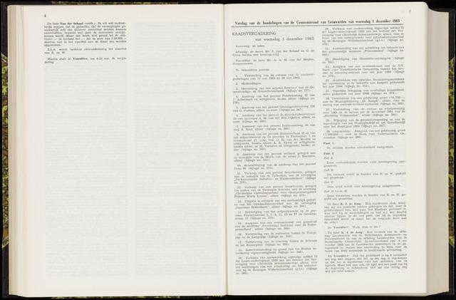 Raadsverslagen van de gemeente Leeuwarden, 1865-2007 (Notulen) 1965-12-01