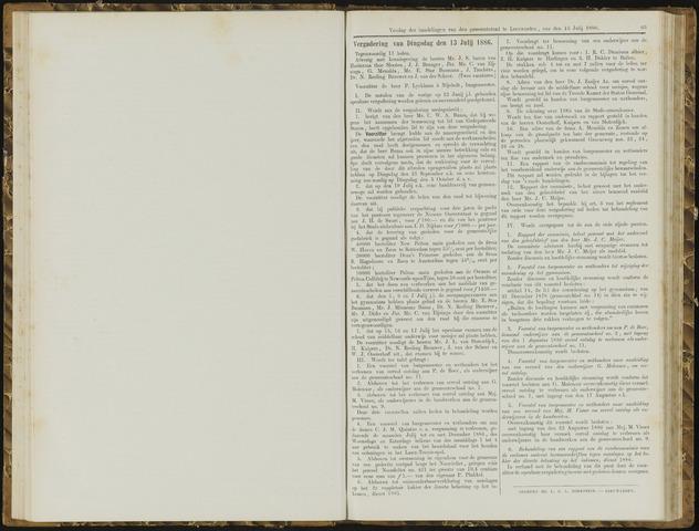 Raadsverslagen van de gemeente Leeuwarden, 1865-2007 (Notulen) 1886-07-13