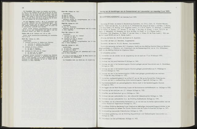 Raadsverslagen van de gemeente Leeuwarden, 1865-2007 (Notulen) 1975-06-02