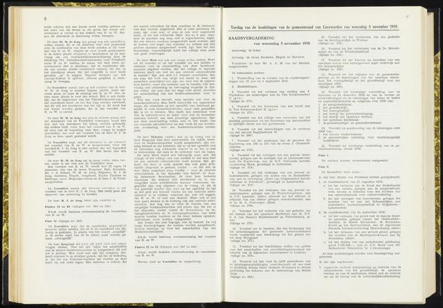 Raadsverslagen van de gemeente Leeuwarden, 1865-2007 (Notulen) 1958-11-05