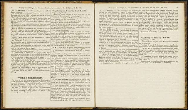 Raadsverslagen van de gemeente Leeuwarden, 1865-2007 (Notulen) 1881-05-05