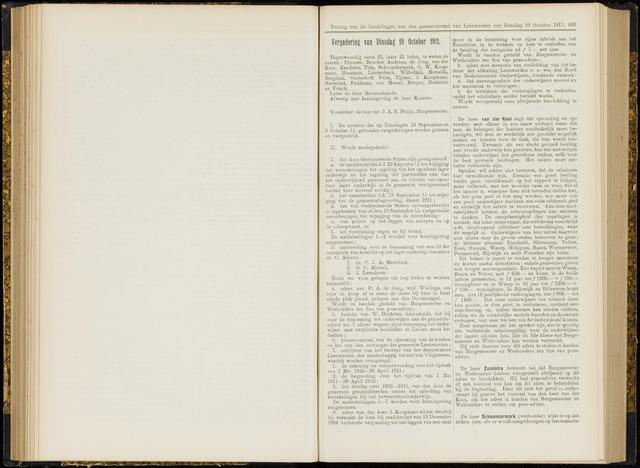 Raadsverslagen van de gemeente Leeuwarden, 1865-2007 (Notulen) 1911-10-10