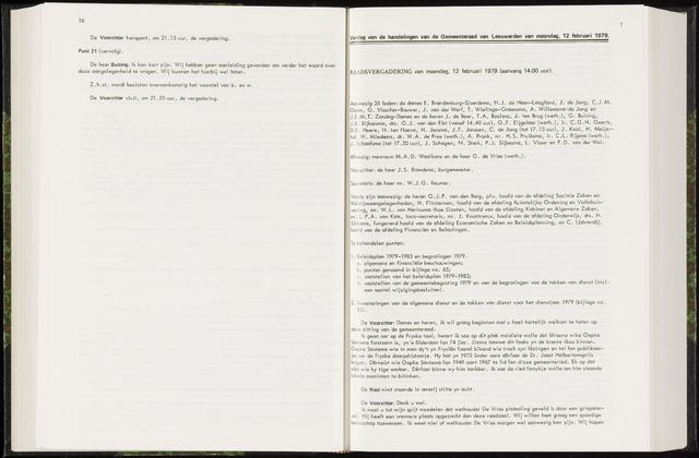 Raadsverslagen van de gemeente Leeuwarden, 1865-2007 (Notulen) 1979-12-02