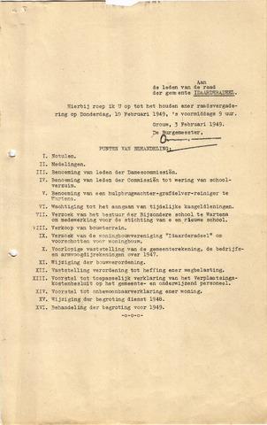 raadsverslagen Idaarderadeel 1935-1983 1949