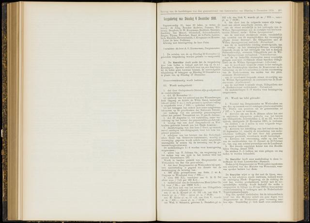Raadsverslagen van de gemeente Leeuwarden, 1865-2007 (Notulen) 1910-12-06