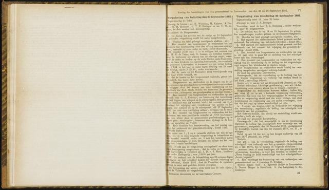 Raadsverslagen van de gemeente Leeuwarden, 1865-2007 (Notulen) 1882-09-23