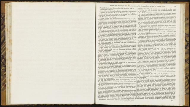 Raadsverslagen van de gemeente Leeuwarden, 1865-2007 (Notulen) 1878-10-31