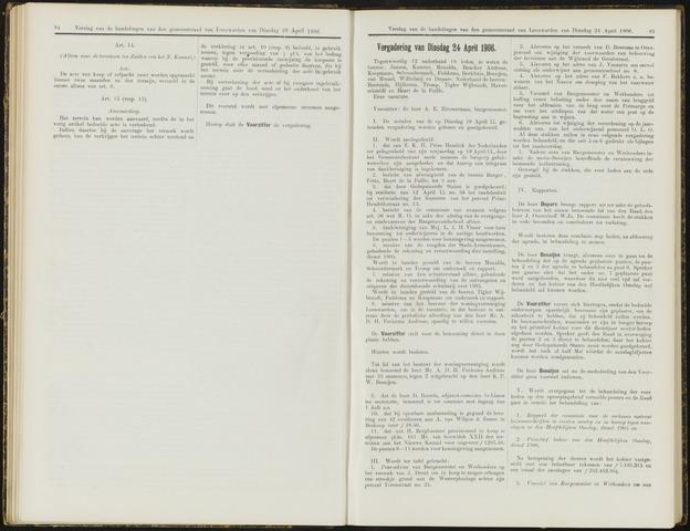 Raadsverslagen van de gemeente Leeuwarden, 1865-2007 (Notulen) 1906-04-24