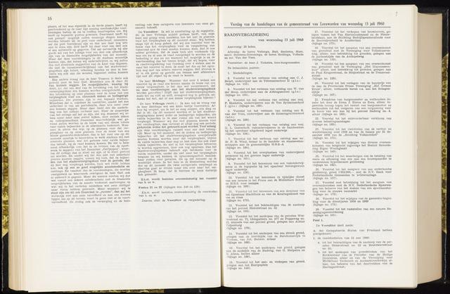 Raadsverslagen van de gemeente Leeuwarden, 1865-2007 (Notulen) 1960-07-13