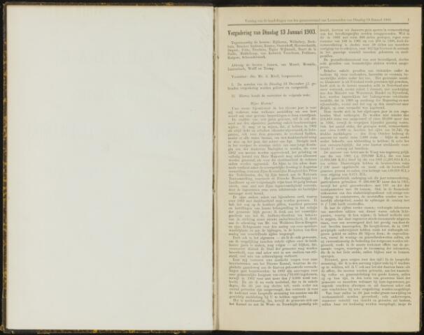Raadsverslagen van de gemeente Leeuwarden, 1865-2007 (Notulen) 1903