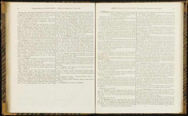 Raadsverslagen van de gemeente Leeuwarden, 1865-2007 (Notulen) 1869-07-14