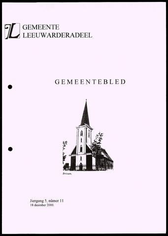 Notulen van de gemeenteraad van Leeuwarderadeel 2000-12-18